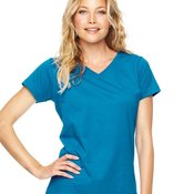 LAT 3507 Apparel 3507 Women's V-Neck Fine Jersey Tee